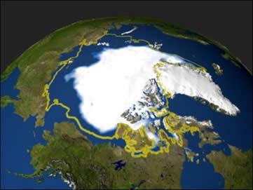 Ilustração sobre Aquecimento Global: Planeta Terra