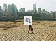 Ilustração sobre Aquecimento Global: Região desertificada
