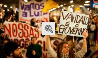 Manifestantes nas ruas do Brasil