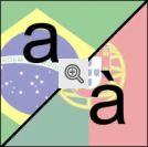 Ilustração diferença Brasil, Portugal