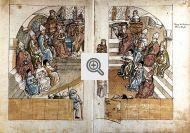 Bispos lutando com o Papa no Concílio de Constança.