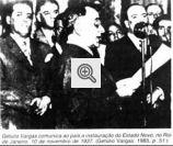 Getúlio Vargas comunicando a instauração do Estado Novo