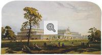 Vista geral deThe Crystal Palaceno Hyde Park, em 1851.
