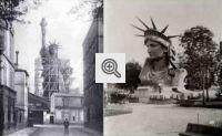 Construção da Estátua da Liberdade para a Exposição de Paris em 1878.