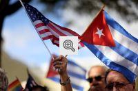 Bandeiras de Cuba e EUA