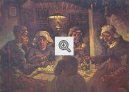 Ilustração sobre Tipologia Textual (Quadro: Comedores de Batata de Van Gogh)