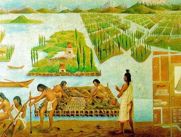 Culturas ind genas maias astecas e incas algo sobre for Xochimilco jardin flottant
