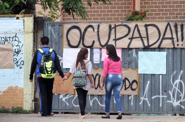 Foto de uma Escola Ocupada